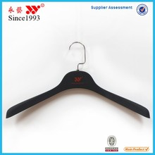 black large size rubber coated plastic male hangers