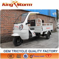 250cc 300cc cargo tricycle with cabin,cabin three wheeler for sale in south america