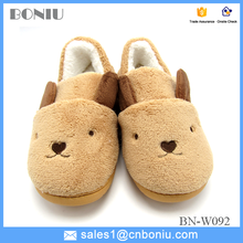 Lady and girl home indoor cute dog shoes/slippers