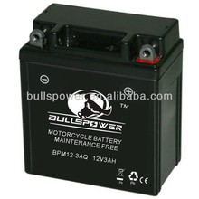 mf rechargeable motorcycle battery 12v 3ah