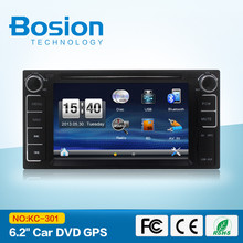 High quality 2din 6.2inch Car navigation and entertainment system build-in Radio,GPS,Bluetooth,SWC,3D UI for toyota