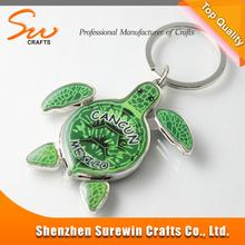 green logo metal tortoise key chain with wholesale price