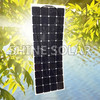 Hot sell new designed high efficiency semi flexible solar panel 100w 135w 300w for RV car / boats/ marine from China factory