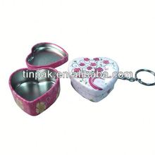 tin small heart shape key chain wholesales