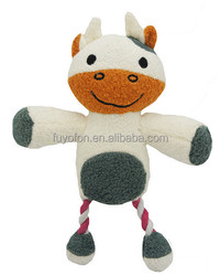 Amy Carol new arrival big foot cow shape pet toys for dog