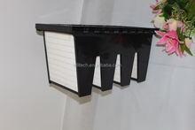 large air volume hepa W shape composed hepa filter plastic frame