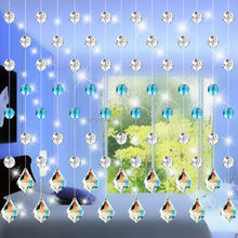2015 new design room decoration crystal bead curtain