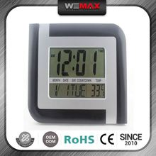 Hot Product Quick Lead Discount Temperature And Humidity Display Digital Clock For Old People