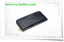 Fashion high-grade zippers portable high quality leather wallet