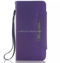 For Samsung s6 Flip Magnetic Wallet PU Leather Cover, For Samsung Galaxy S6 Cover