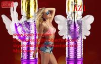 2014 New Baile 5 Speed Vibration 5 Speed Rotation USB Rechargeable Li Battery Heated Rabbit Vibrator Sex Toys