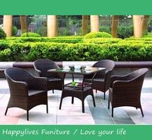 YL6200 Best Hotsale and Excellent quality Outdoor coffee shop Chairs sets and hugo boss rattan sets