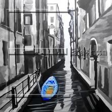 Handmade Modern Venice Landscape Painting