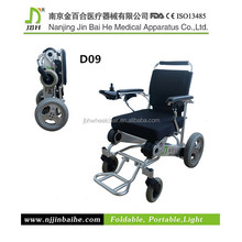 Folding electric portable wheelchair scooter