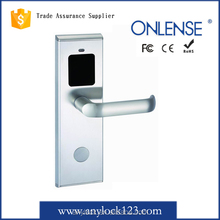 Electronic hotel key card door lock with handle have stock