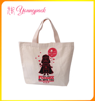 promotional 100% recyclable canvas tote bag for shopping