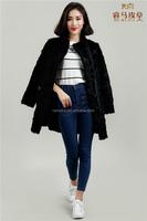 Black Lamb Fur Long Style Coat
