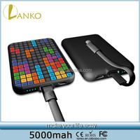 2015 Tetris Game 5000mah Universal Power Bank Travel charger