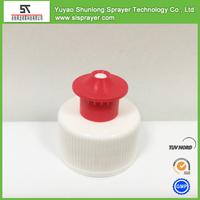 plastic screw bottle lid push pull cap