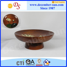 decorative small round sushi breakfast wood plate wholesale
