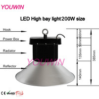 A2 2014 newest design Meanwell freight save Small size 200w led high bay light bulb