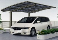 double outdoor aluminum carport with polycarbonate roof