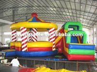 2012 colorful inflatable amusement park whirligig candy bouncer with wet dry water slides combo