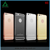 Rose Pink Black Silver Gold for iPhone 6S Aluminum bumper Mirror Cover Case for iPhone 6S Plus