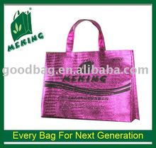 water-proof non woven advertising bag with purple film