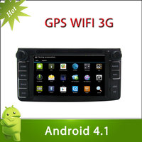Pure Adnroid 4.1 TOYOTA HIACE Car DVD GPS Player with 6.2inch Capacitive and Multi-touch Screen 3G Wifi BT Radio