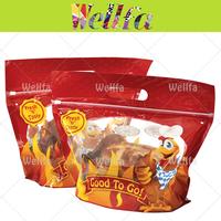 Microwaveable Takeaway Zipper Plastic Bag for Roasted Chicken Packaging
