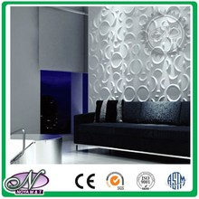 Irregular pure white beautiful health 3d wall covering