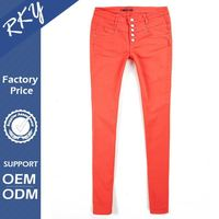 Comfortable Humanized Design Eco-Friendly Women Tight Pants With Back Pockets