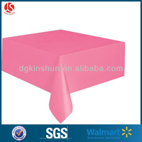 rectangular wedding decorative table cover with pink color