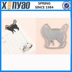 promotional gifts customer design animals look back cat shape bookmark
