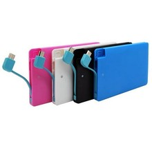 power bank credit card size micro usb battery charge 2000mAh for iPhone 6 Samsung,a full charge to most phones
