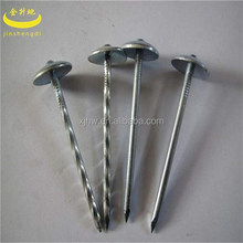 hot dipped galvanized umbrella head twisted/smooth shank roofing nails factory