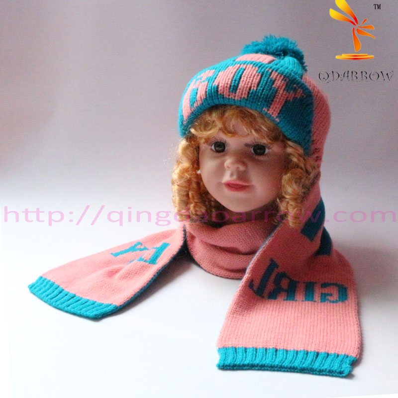 Knitting Pattern For Toddler Hat And Scarf : Convertible Hat And Scarf Set For Toddlers Knitted Pattern ...