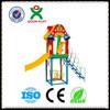 kids fiberglass playground slide material/fisher price outdoor playground/franchise playground QX-B1705