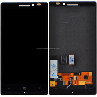 Black front mobile phone LCD display screen digitizer glass assembly for Nokia Lumia 930