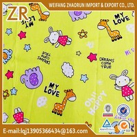 pure cotton printed fabric for kids bedding sheet
