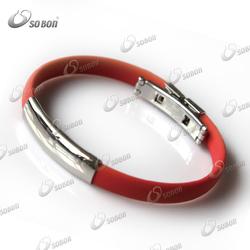 personalized rubber bracelets / rubber magnetic sports bracelets / sports gym clubs silicone bracelets
