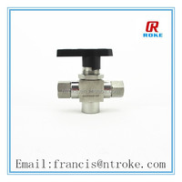 stainless steel CNG ball valve 3 way valve 3pc style