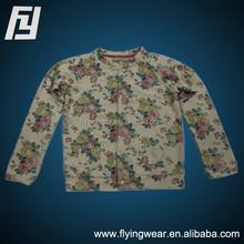Custom Cotton Colorful Flower Kids Girls shirts,Tops