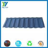 Good quality hailstone resistent metal roofing tile with blue stone