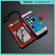 Genuine Real Leather Flip Wallet Case Cover For Apple iPhone 6 iPhone 6 Plus