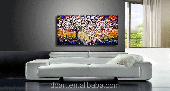 Zware textuur olieverfschilderij moderne woonkamer Schilderij woonkamer