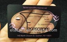 Standard makeup clear plastic business card