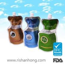 OEM manufacturer side gusset leakless plastic liquid pouch