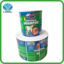 Custom printing household label sticker, waterproof skin & hair care products label, adhesive vinyl sticker